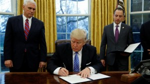 Trump dumps the TPP trade pact as fears grow for the future of NAFTA