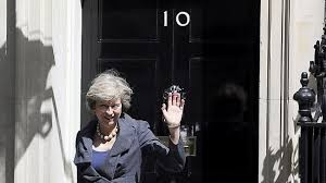Moving day for Theresa May as she gets the keys to Number 10