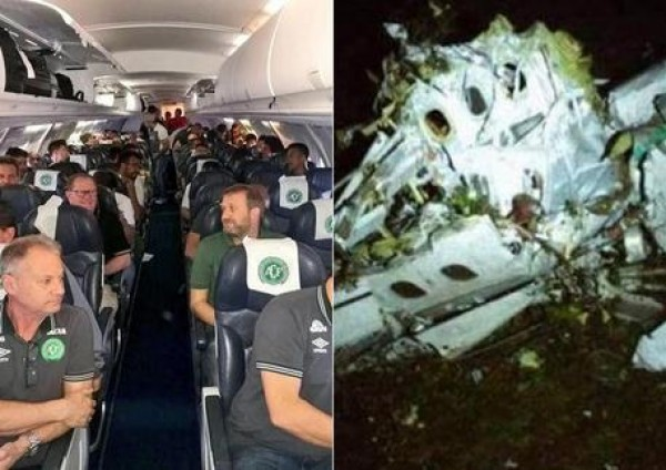 At least 5 survive plane crash over Colombia, including 3 Chapecoense footballers