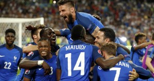 Griezmann double gives France the edge as hosts book Euro final spot