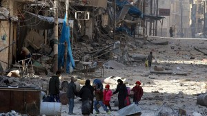 Civilians flee rebel-held eastern Aleppo as Syrian regime tightens grip