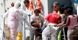 Watch: 'You are safe.'- Italian coastguard saves terrified migrants from sinking boat
