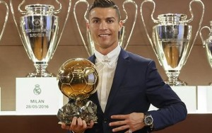 Ronaldo wins Ballon d'Or on night Real Madrid are drawn against Napoli in Champions League last 16