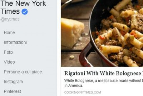 Dalla pagina Fb del New York Times