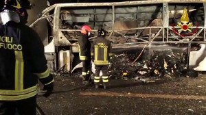 At least 16 dead after coach carrying students crashes in Italy