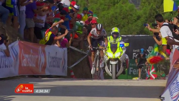 Mathias Frank with enough in the tank to claim stage 17 of the Vuelta a Espana
