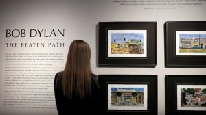 Bob Dylan's artwork on show in London
