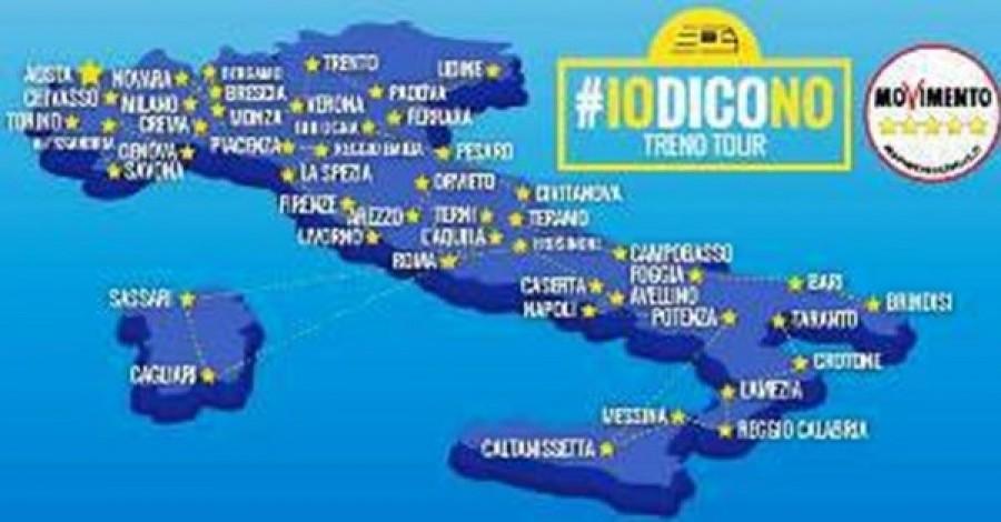 Referendum, Grillo: io voglio votare, pronto m5s treno tour