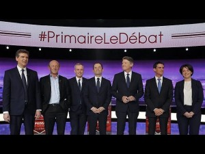 French left-wing presidential hopefuls take part in first TV debate