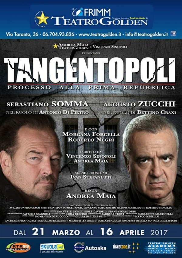 Tangentopoli in scena al Teatro Golden dal 21 mar al 16 apr 2017