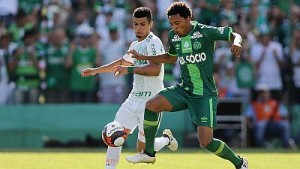 Raw emotions as Brazilian football club Chapecoense play first match since plane crash tragedy