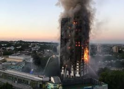 Massive fire engulfs London tower block