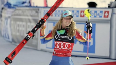 Shiffrin seals fourth World Cup slalom title with victory in Squaw Valley