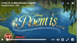 Maria Rosaria Longobardi Marylon una sua poesia in un video della Walt Disney