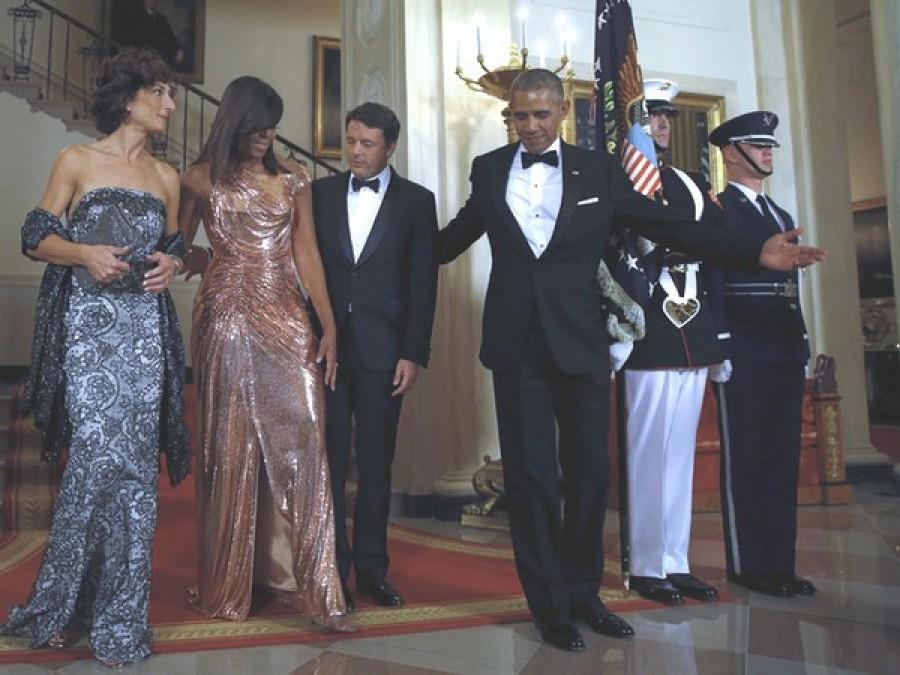 Agnese Renzi e Michelle Obama, la sfida degli abiti alla Casa Bianca