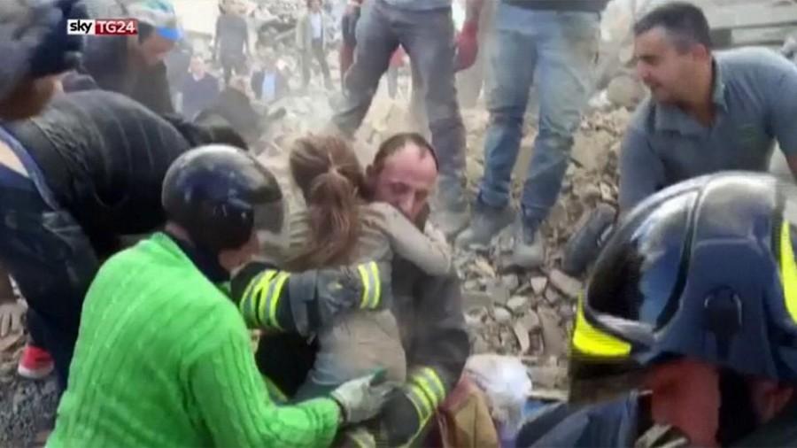 Calabria: Colonna Mobile Vigili del Fuoco nell'aerea colpita dal terremoto