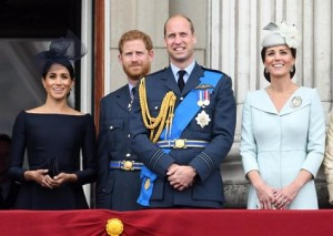 Los hijos de Diana Spencer príncipe William, Harry y sus esposas