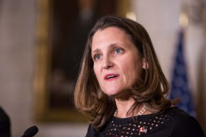 Chrystia Freeland, canciller canadiense