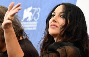 Bellucci praises 'role with wrinkles and in love' in Venice