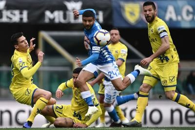 Festa Napoli, Chievo in B Tris dell'Inter al Frosinone