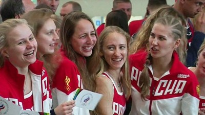 Threadbare Russian Olympic team en route to Rio